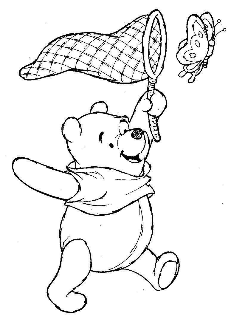 Coloriage personnage de winnie l 39 ourson - Dessin winnie ...