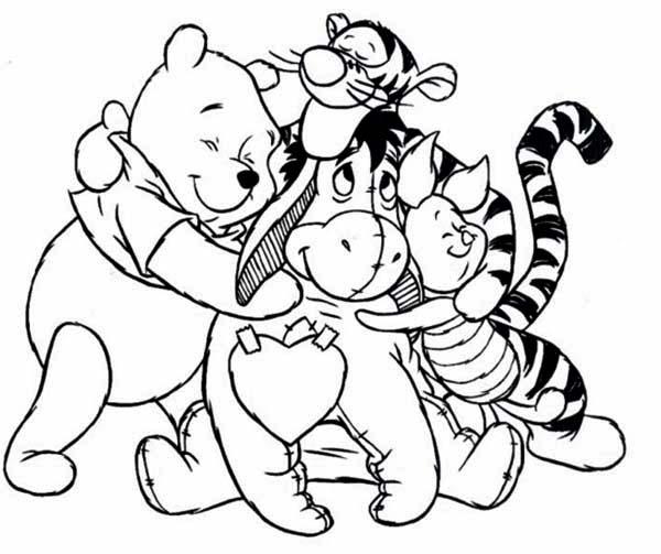 Coloriage de winnie l 39 ourson et ses amis a imprimer - Winnie dessin ...