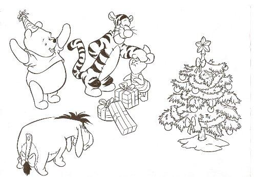 dessin à colorier winnie et tigrou