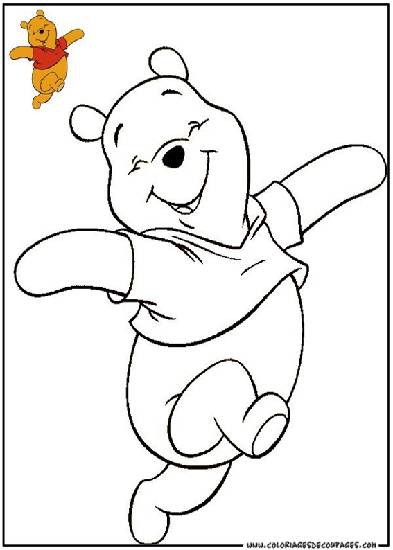 dessin à colorier anniversaire winnie l'ourson
