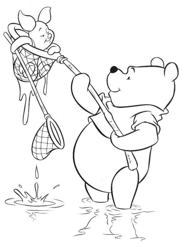 dessin winnie et porcinet