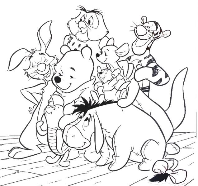dessin winnie et ses amis