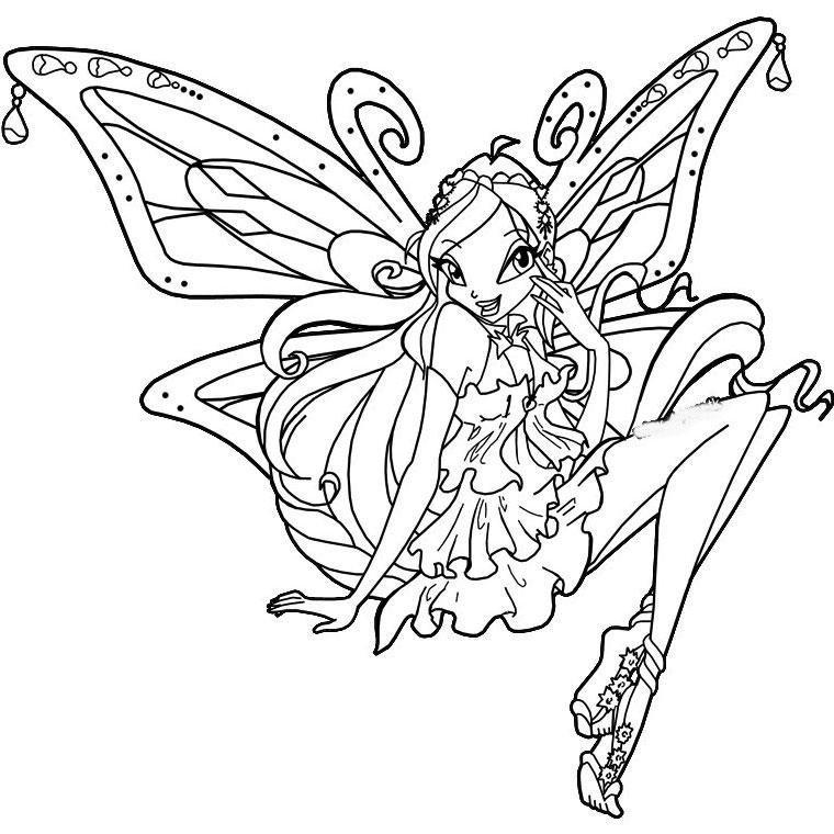 12 dessins de coloriage winx club a imprimer gratuit - Sirena da colorare fogli da colorare ...