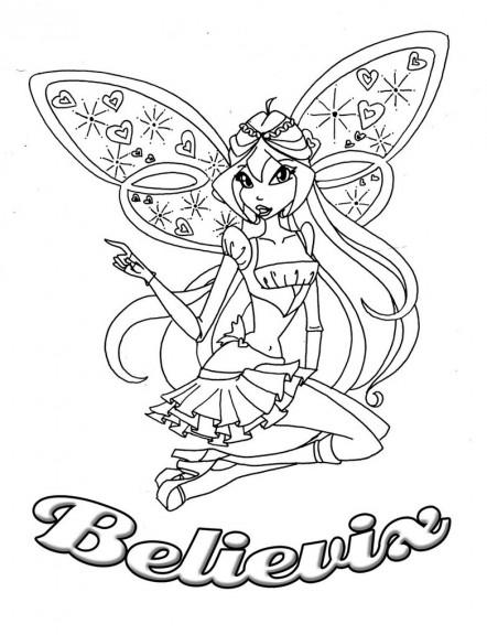 12 dessins de coloriage winx club a imprimer gratuit - Coloriage winx gratuit ...