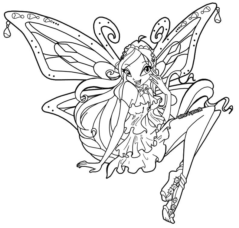 9 dessins de coloriage winx club bloom imprimer for Winx club bloom coloring pages