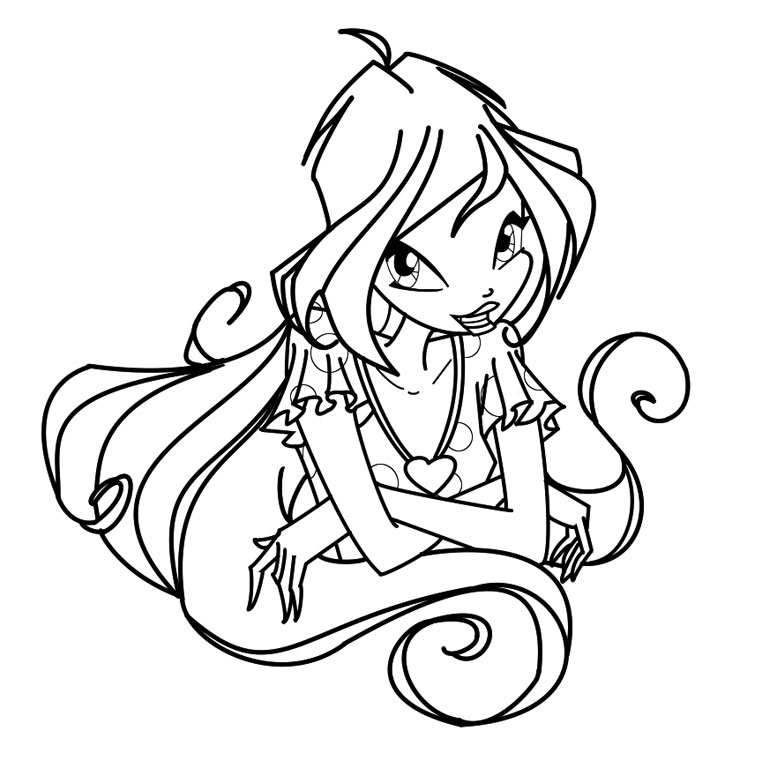 coloriage winx club bloom