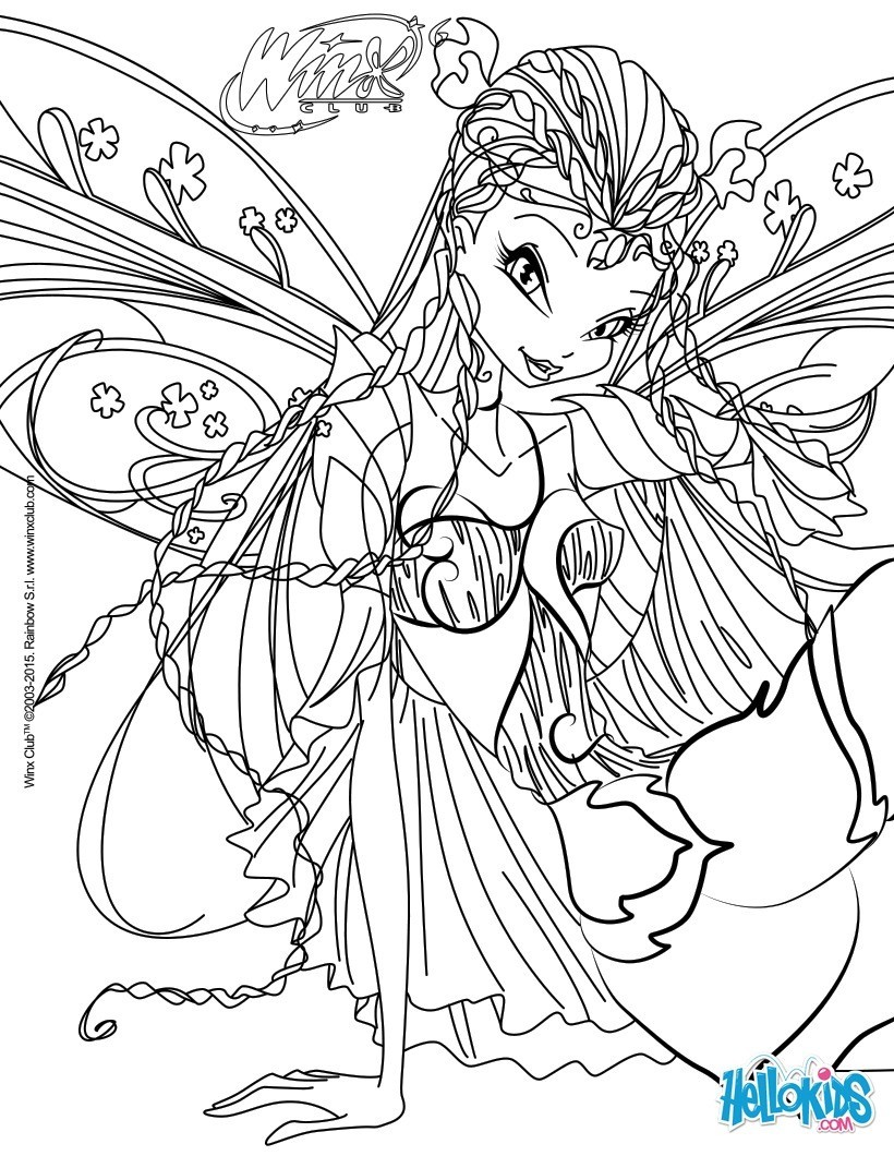 5 dessins de coloriage winx club bloomix imprimer - Coloriage stella ...