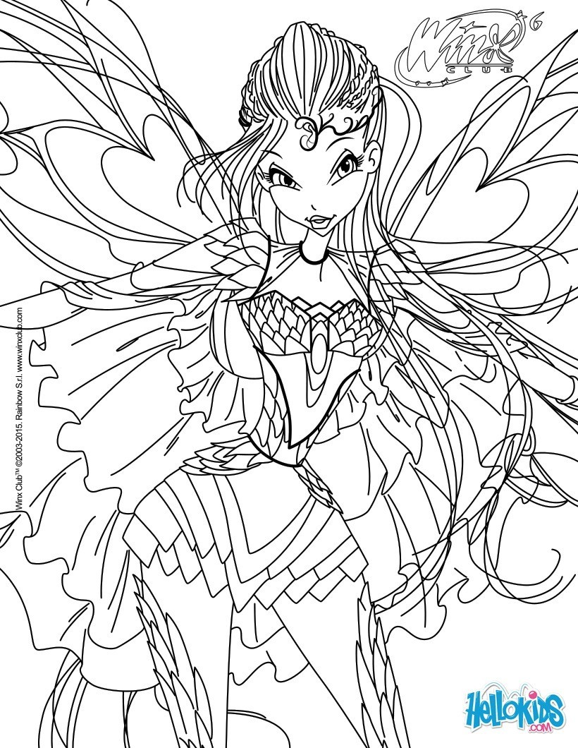 5 dessins de coloriage winx club bloomix imprimer - Coloriage prin ...