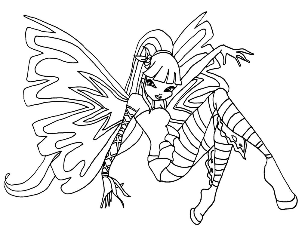 11 dessins de coloriage winx club enchantix imprimer - Coloriage stella ...