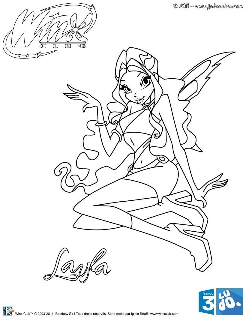 14 dessins de coloriage Winx Club Flora à imprimer