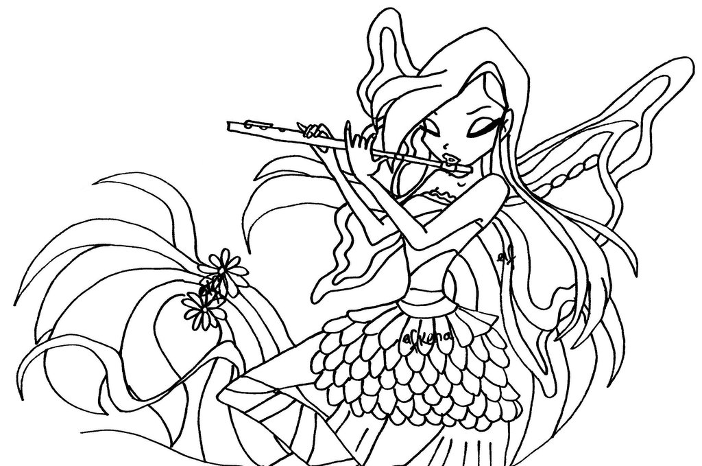 5 dessins de coloriage winx club harmonix imprimer - Coloriage winx bloom ...