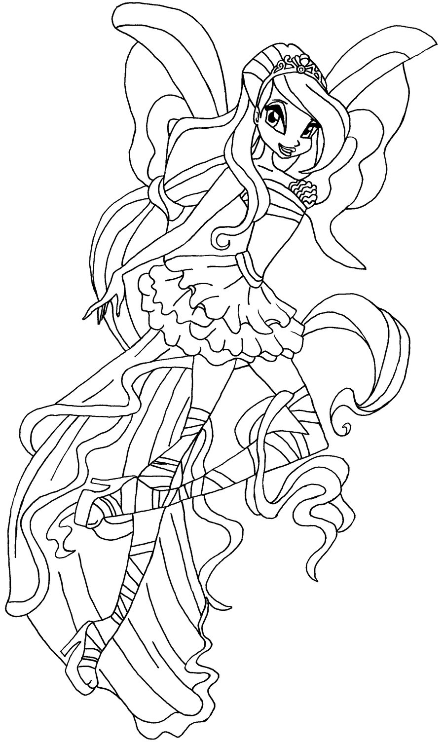 coloriage winx club harmonix