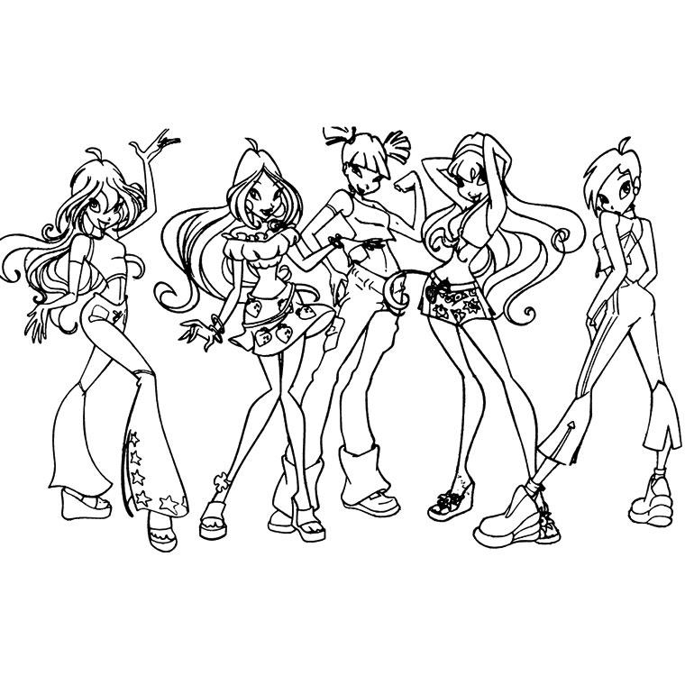 18 dessins de coloriage winx club saison 5 imprimer - Dessin anime des winx club ...