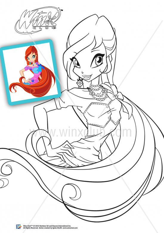 18 dessins de coloriage winx club saison 5 imprimer - Coloriage winx bloom ...