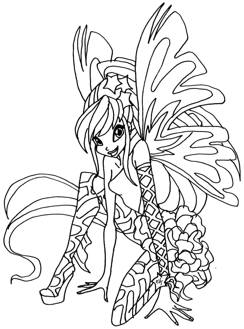 Coloriage a colorier winx club - Coloriage winx bloom ...