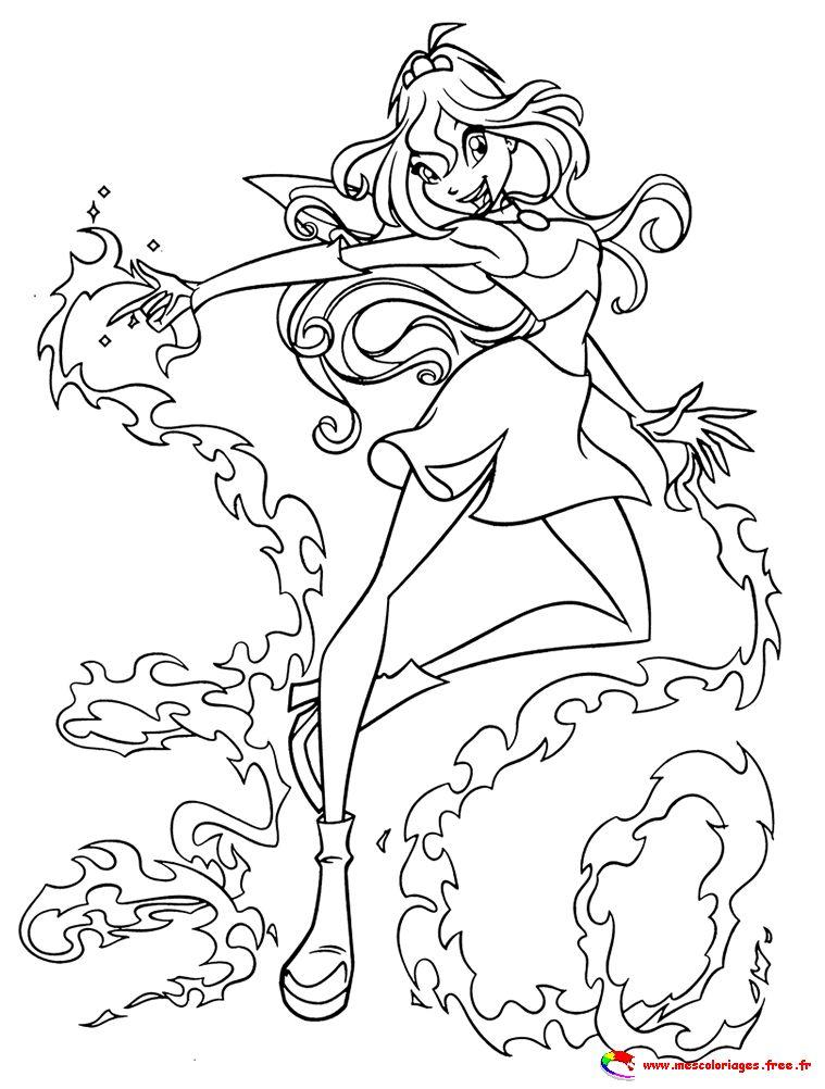 coloriage à dessiner a imprimer winx club gratuit