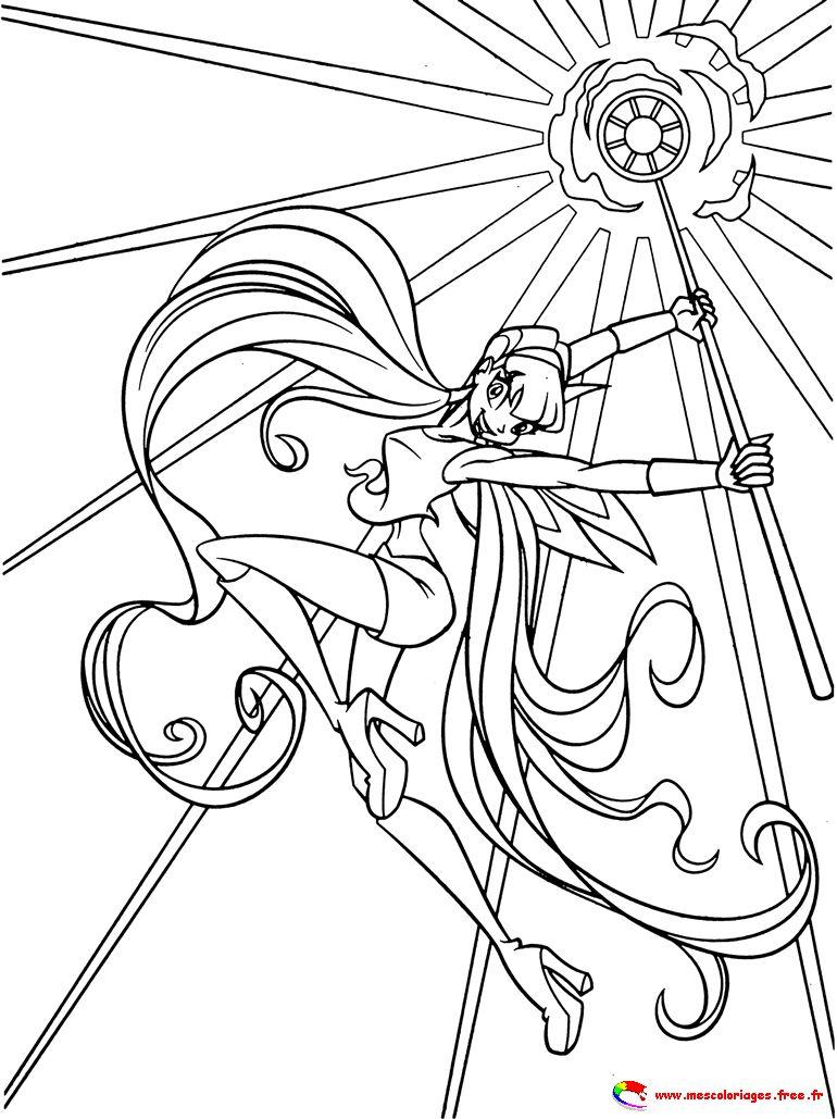 dessin à colorier winx club en ligne