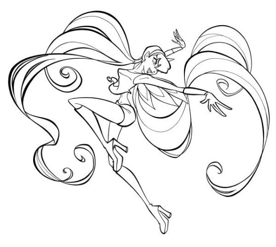 dessin winx club roxy