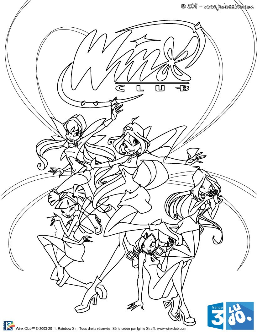 coloriage à dessiner winx club enchantix à imprimer