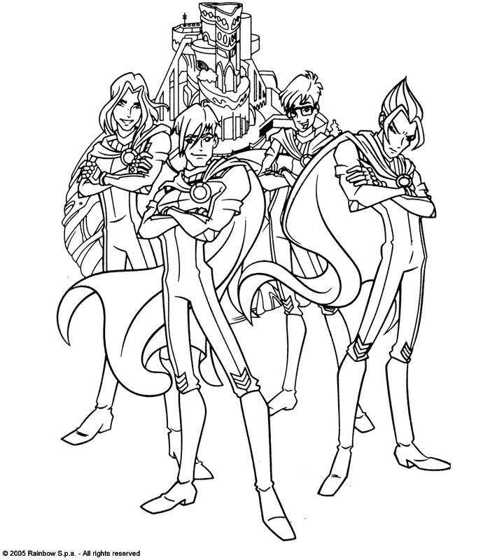 dessin de winx club à imprimer