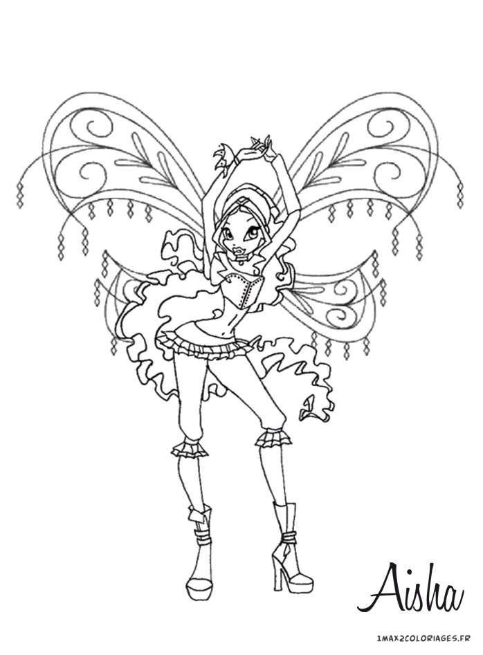 dessin winx club flora enchantix