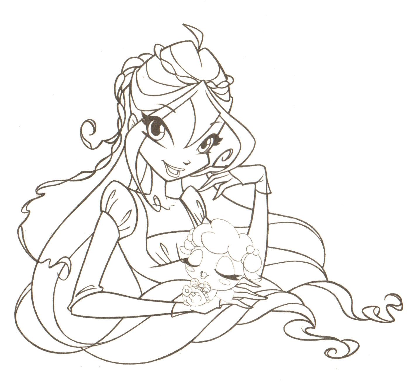 dessin à colorier winx magique