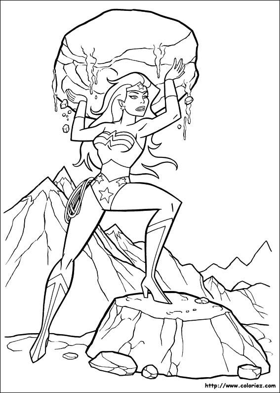 68 dessins de coloriage wonder woman imprimer - Coloriage wonder woman ...