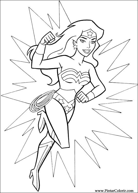 coloriage � dessiner wonder woman