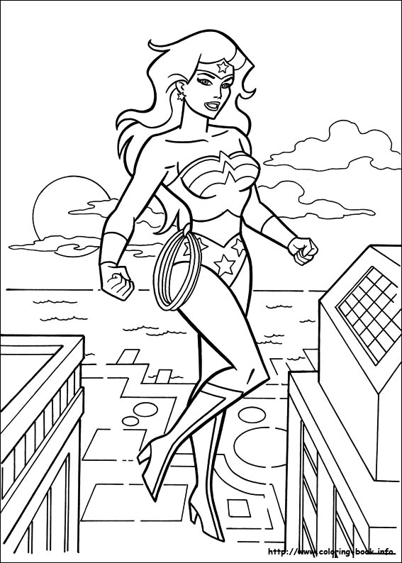 dessin � colorier a imprimer wonder woman