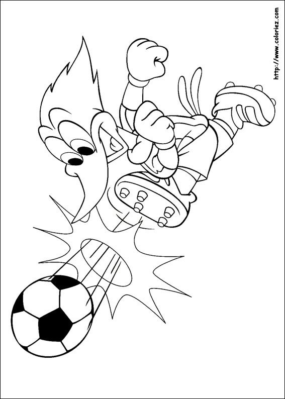 coloriage woody woodpecker