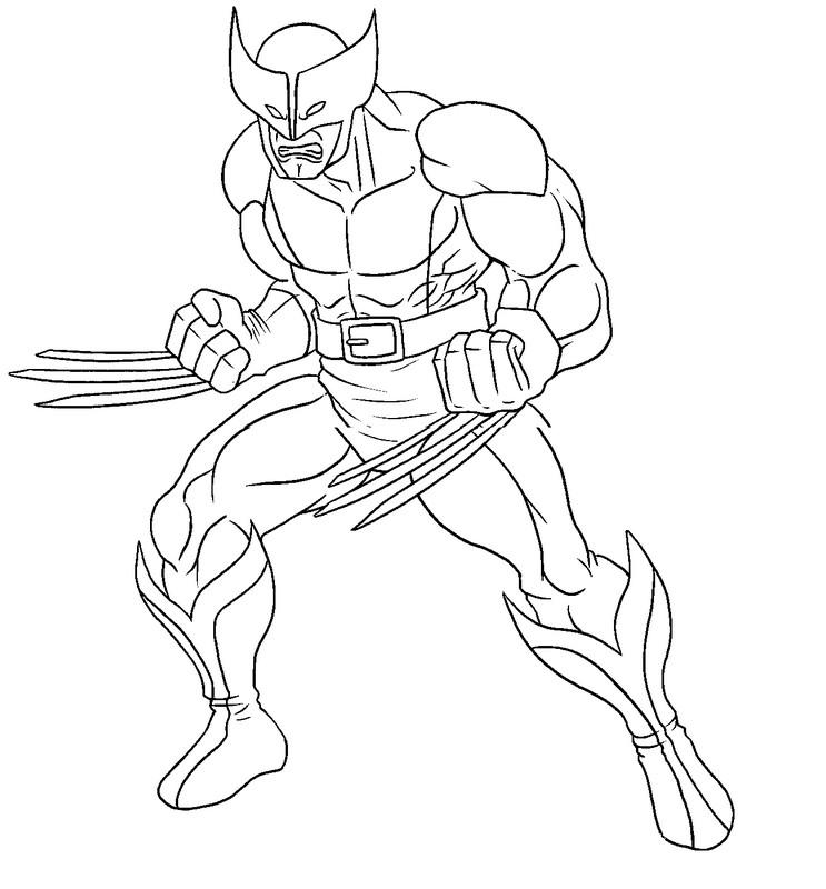 Dessin A Imprimer Wolverine