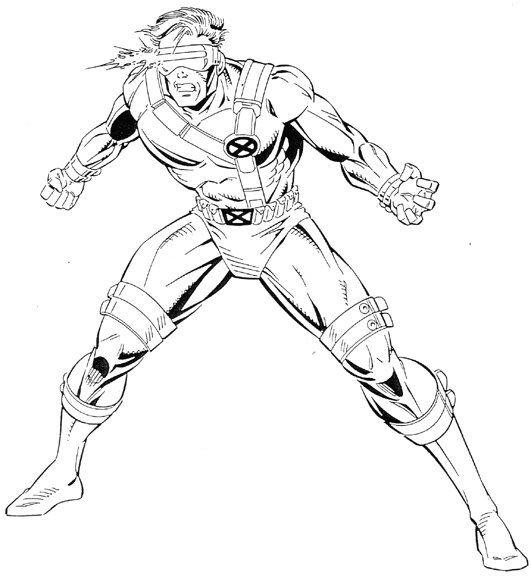 dessin x-men a imprimer gratuit