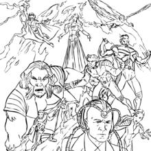 dessin de x-men a imprimer