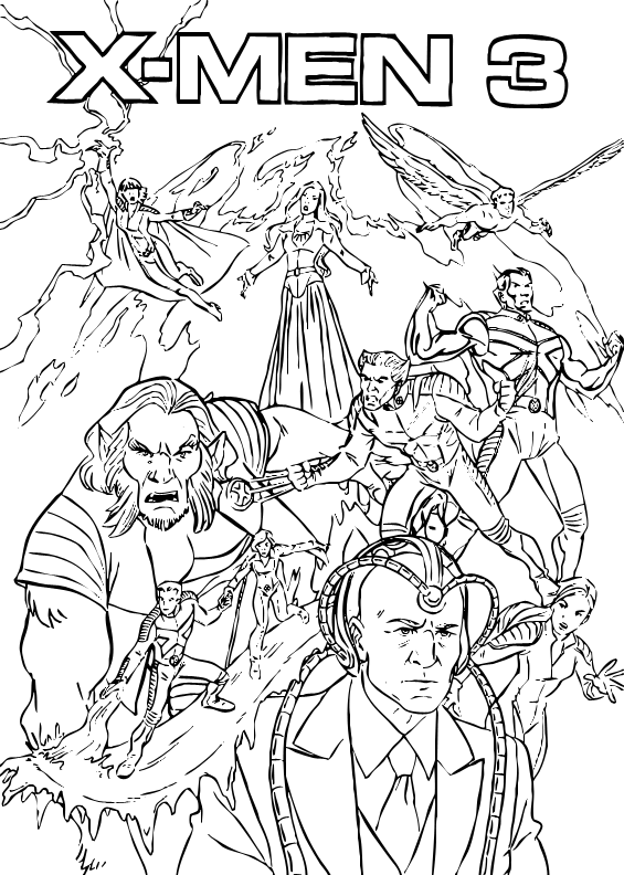 coloriage à dessiner x-men a imprimer gratuit