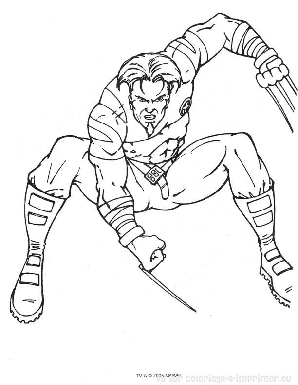 coloriage à dessiner x-men gratuit