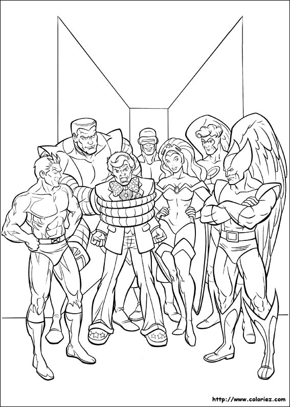 coloriage x-men a imprimer gratuit