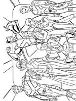 dessin à colorier x-men evolution