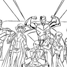 coloriage à dessiner x-men evolution