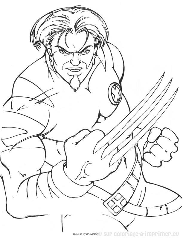 coloriage à dessiner a imprimer x-men gratuit