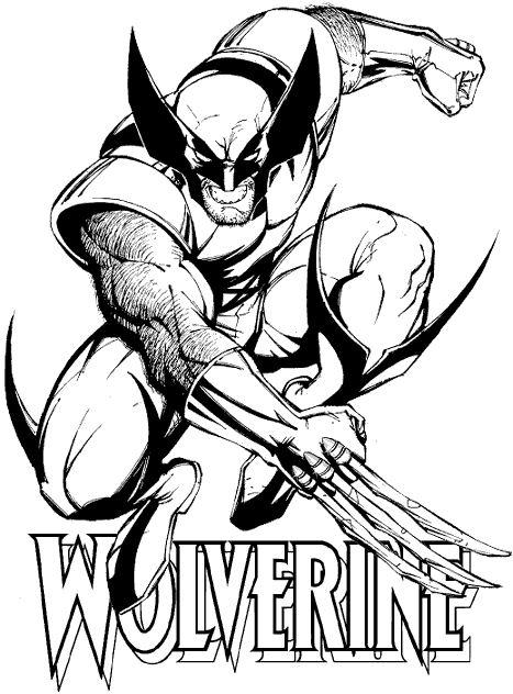 dessin à colorier a imprimer x-men gratuit