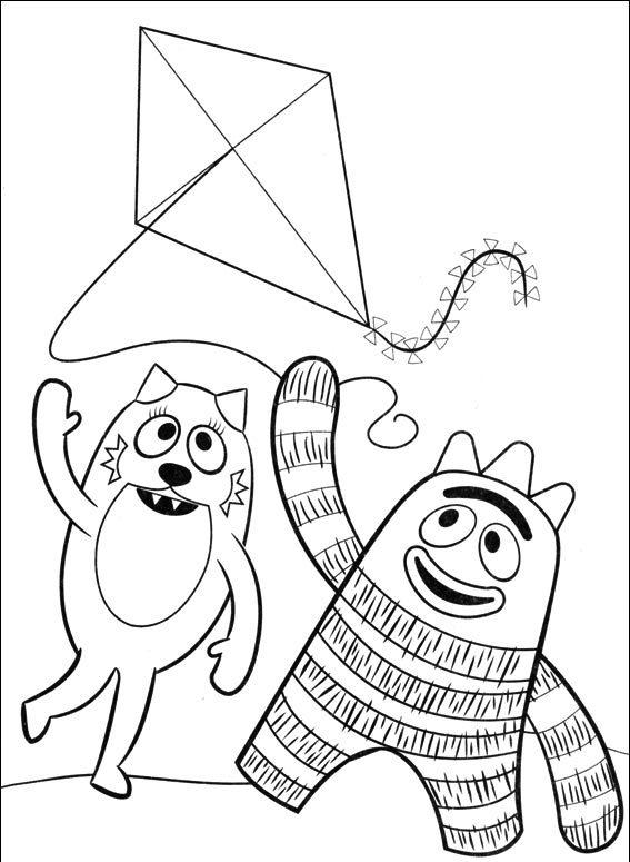 coloriage à dessiner yo gabba gabba