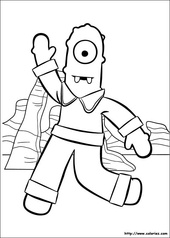 dessin � colorier yo gabba gabba