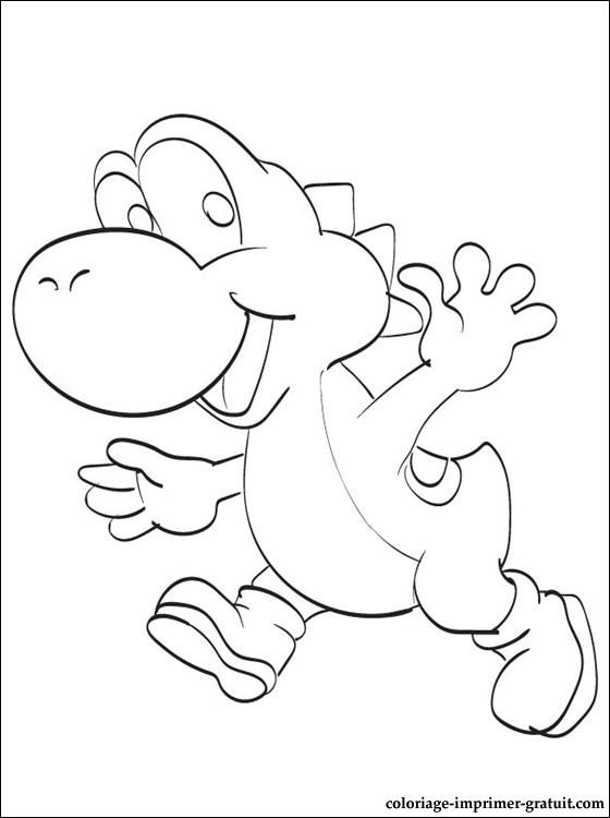 dessin yoshi et toad