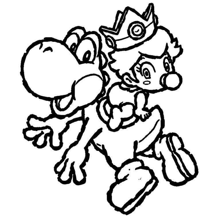 coloriage à dessiner yoshi a imprimer gratuit