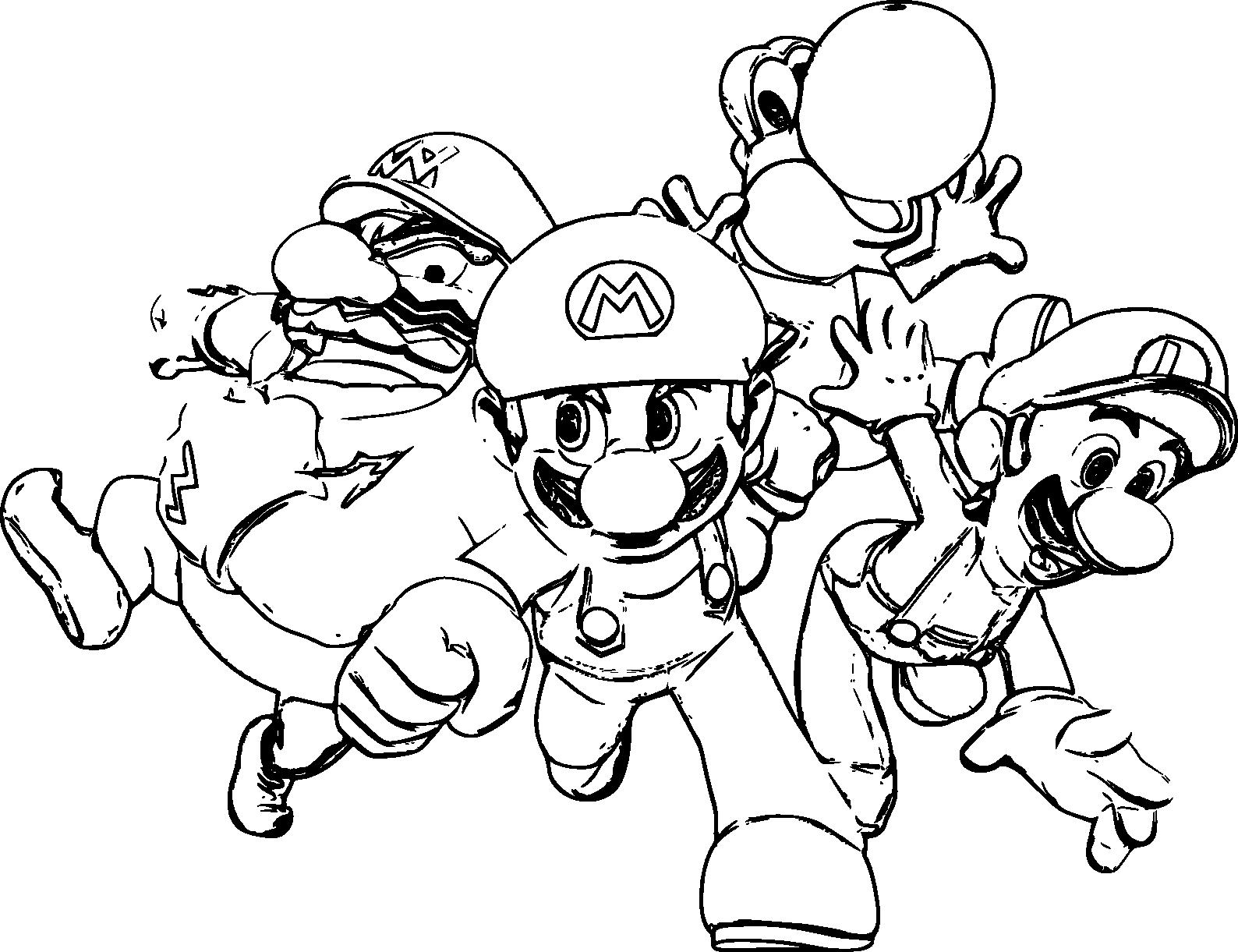 coloriage mario luigi et yoshi