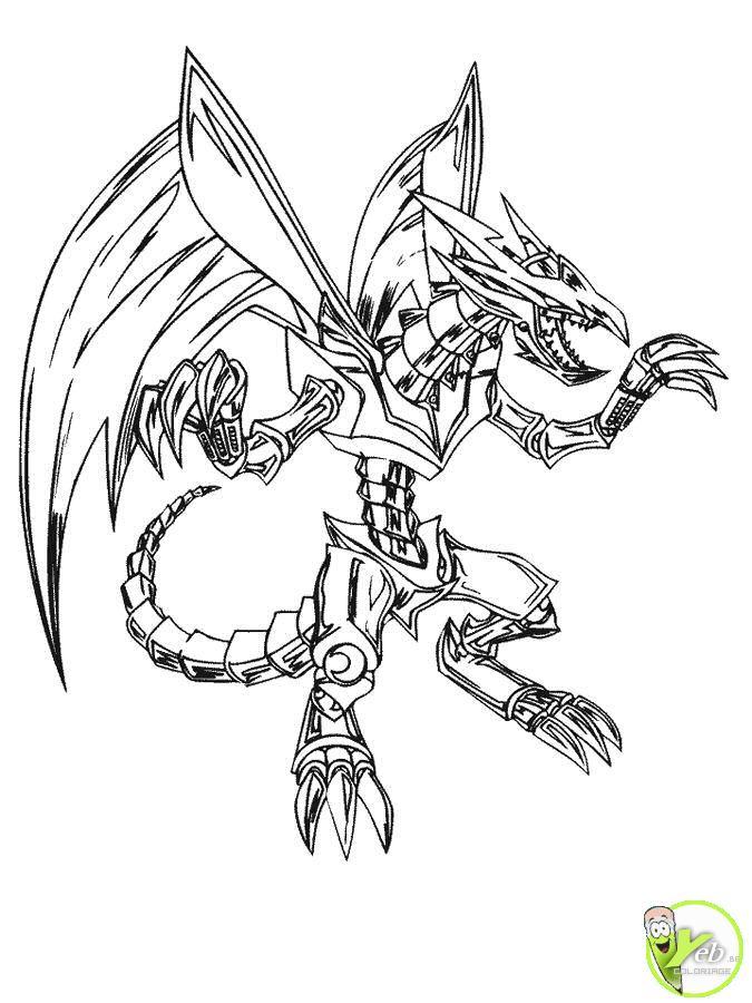 12 dessins de coloriage yu gi oh dragon legendaire imprimer - Coloriage robot dinosaure ...