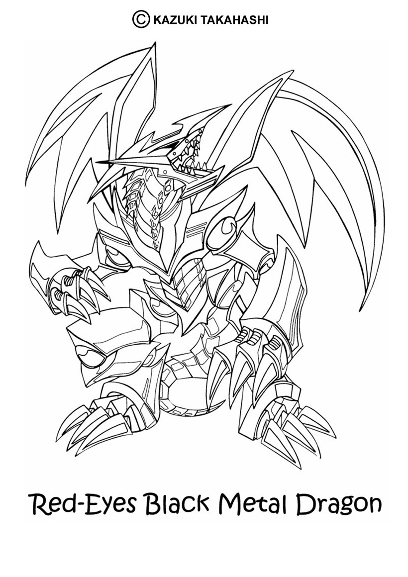 13 dessins de coloriage yu gi oh dragon imprimer - Dessin dragon a imprimer ...