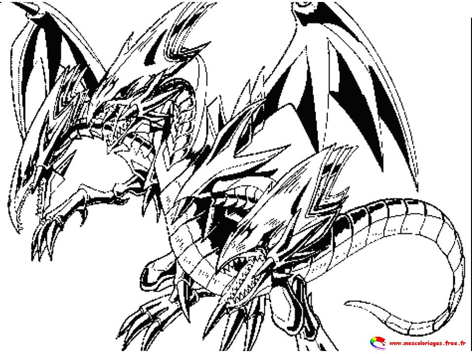 Dessin A Colorier Yu Gi Oh Monstre