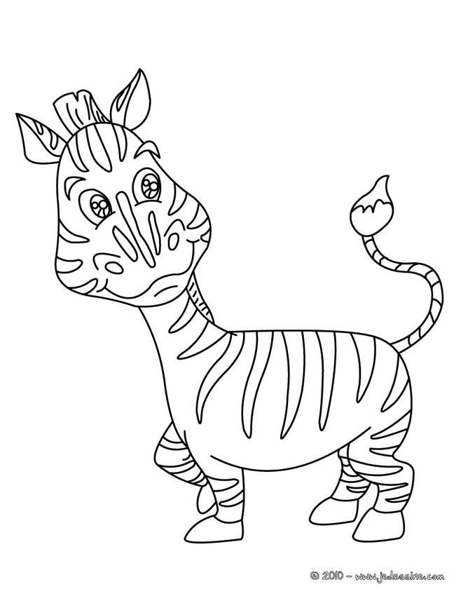 dessin à colorier zou le zebre a imprimer
