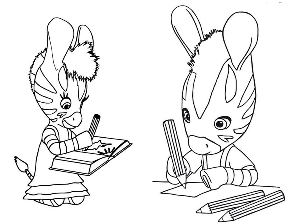 coloriage à dessiner zebre gratuit